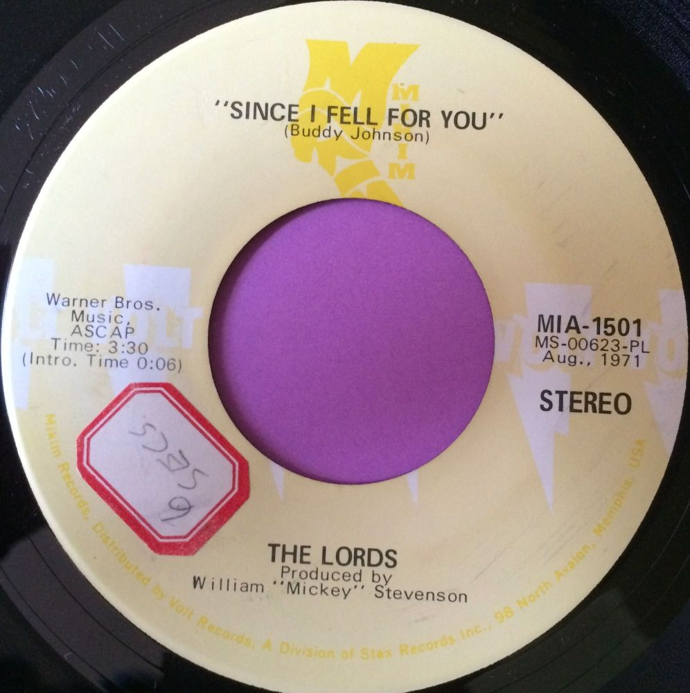 Lords-Since I fell for you-Volt stkr E+