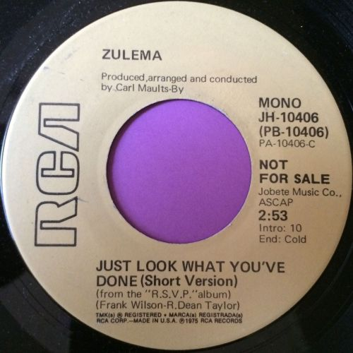 Zulema-Just look what you`ve done-RCA demo M-
