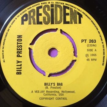Billy Preston-Billy`s bag-President E+