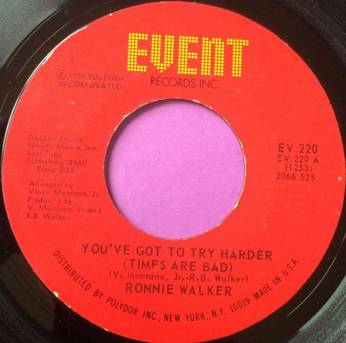 Ronnie Walker-You`ve got to try harder-Event E+