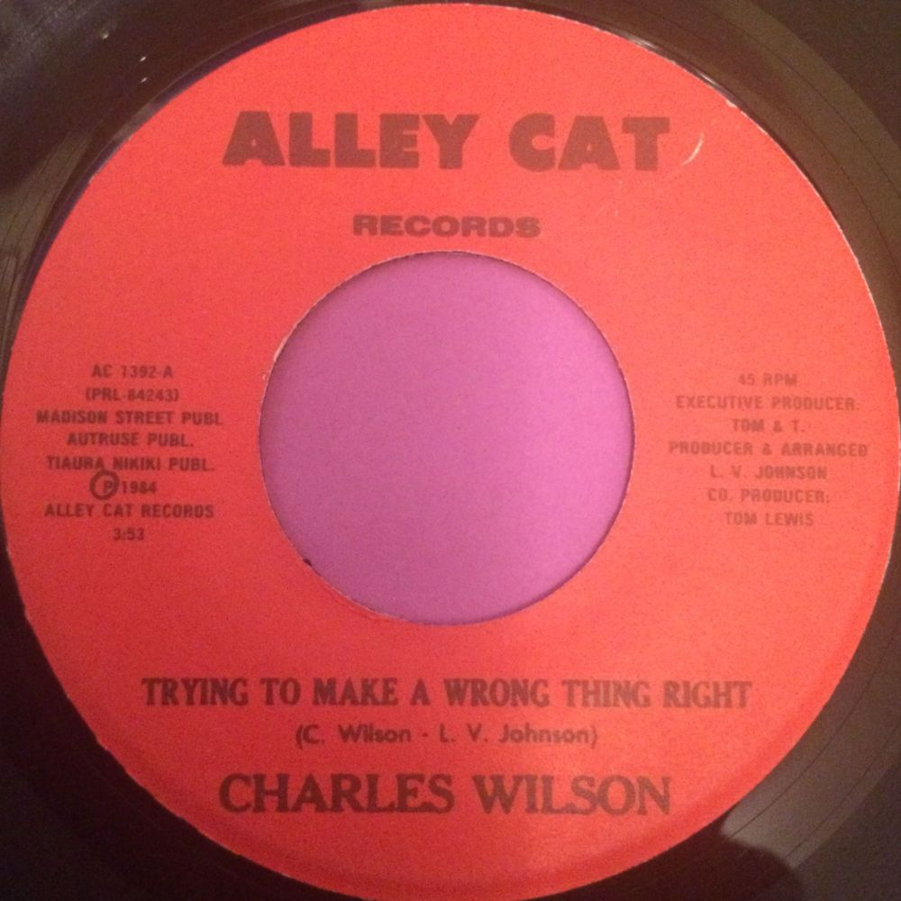 Charles Wilson-I don`t want to lose your love-Alley cat E+