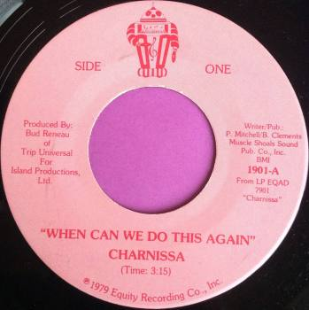 Charnissa-When can we do this again-Side one M-