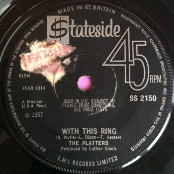Platters-With this ring-Stateside UK E