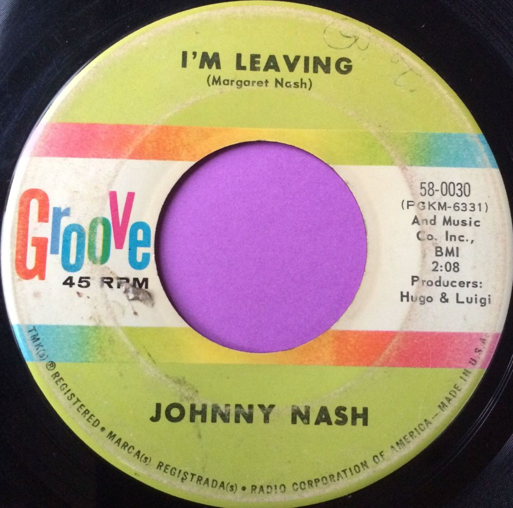 Johnny Nash-I`m leaving-Groove vg+