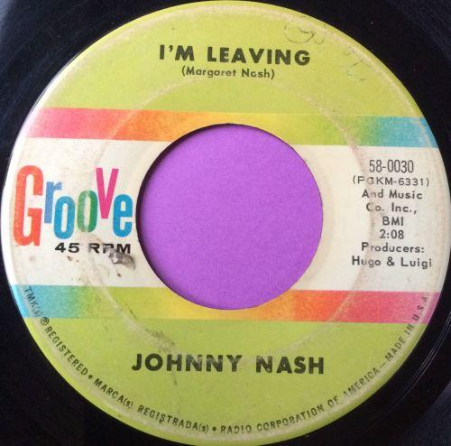 Johnny Nash-I`m leaving-Groove vg+