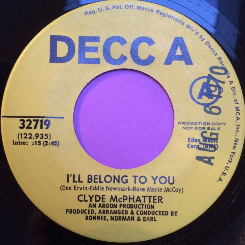 Clyde McPhatter-I`ll belong to you-Decca demo M-