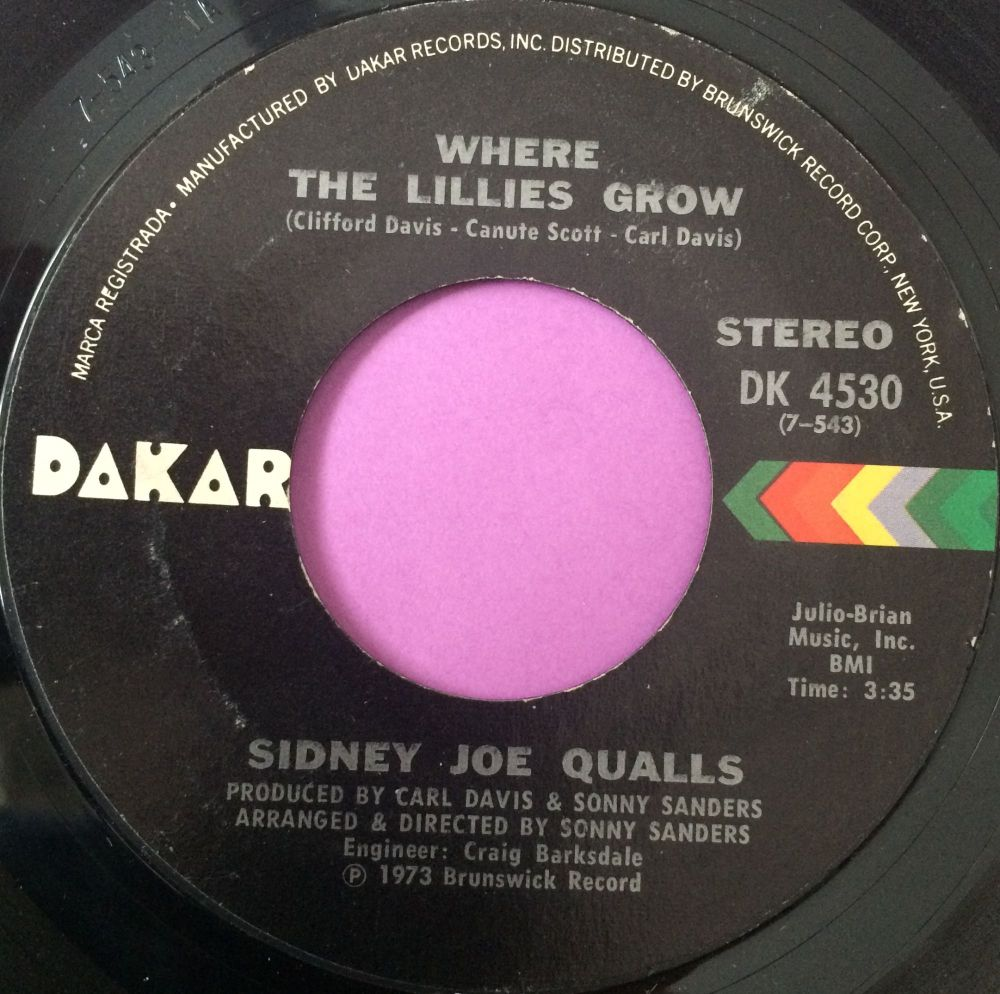 Sidney Joe Qualls-Where the lillies grow-Dakar E+