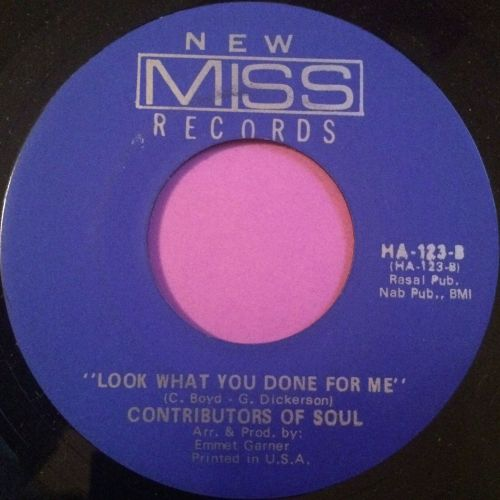 Contributors of Soul-Look what you have done for me-New miss E+