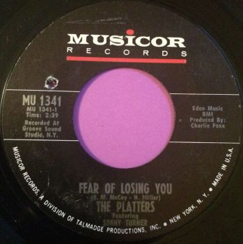 Platters-Fear of losing you-Musicor E+