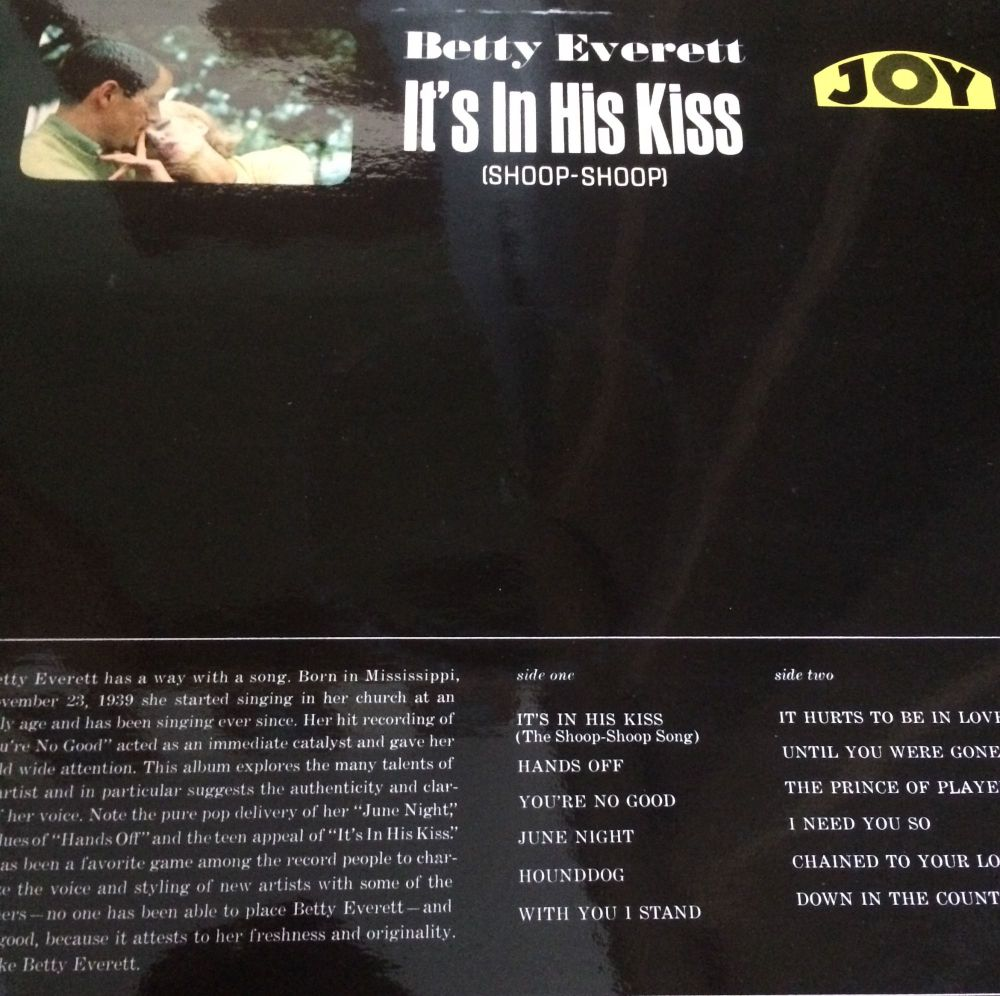 Betty Everett-It`s in hiskiss-JOy LP E+