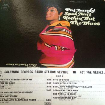Pat Lundy-Soul ain`t nothin` but the blues-Columbia LP E+