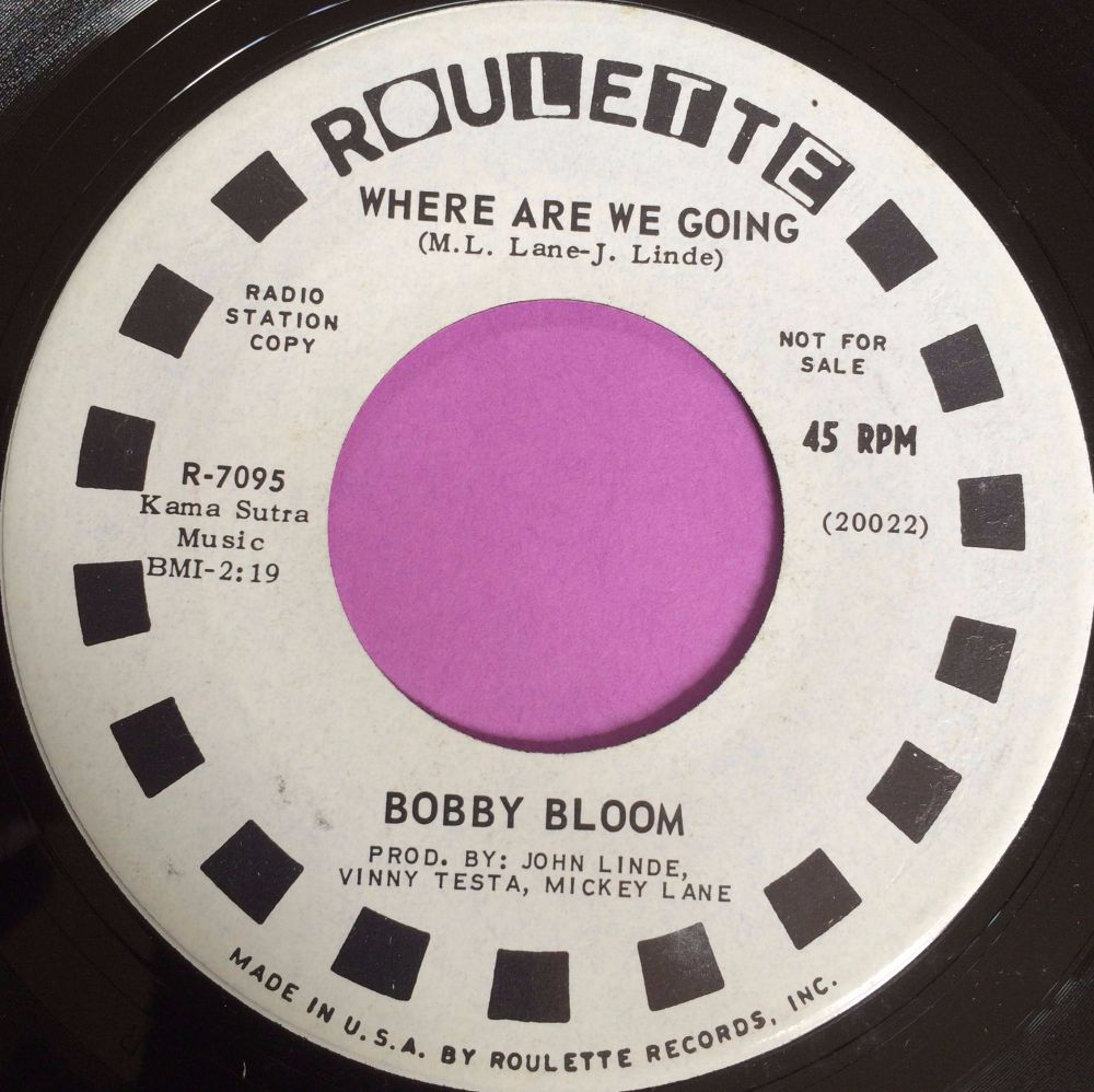 Bobby Bloom-Where are we going-Roulette WD E+