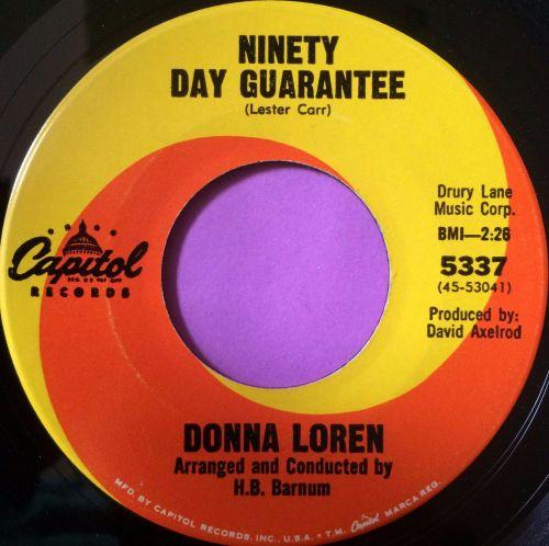 Dona Loren-Ninety day guarantee-Capitol E+