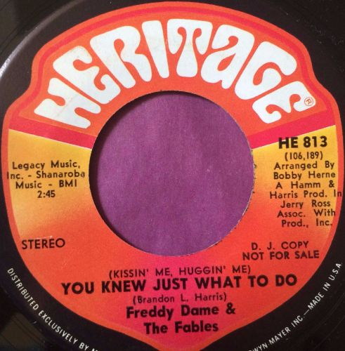Freddy Dame-You knew just what to do-Heritage M-