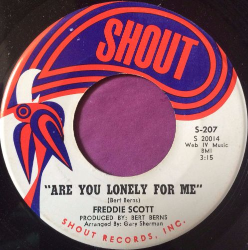 Freddy Scott-Are you lonely for me-Shout M-