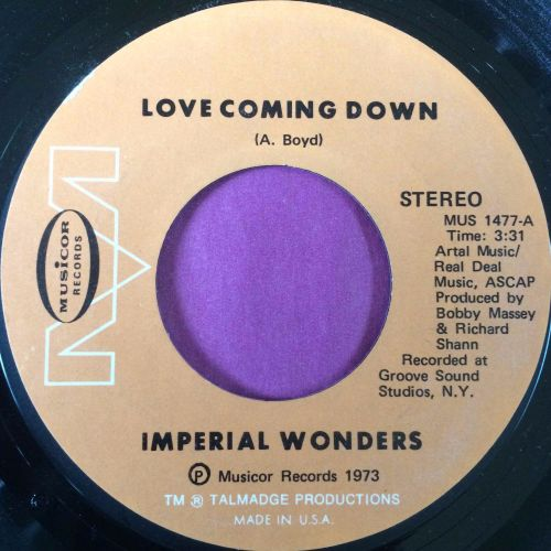Imperial Wonders-Love coming down-Musicor E+