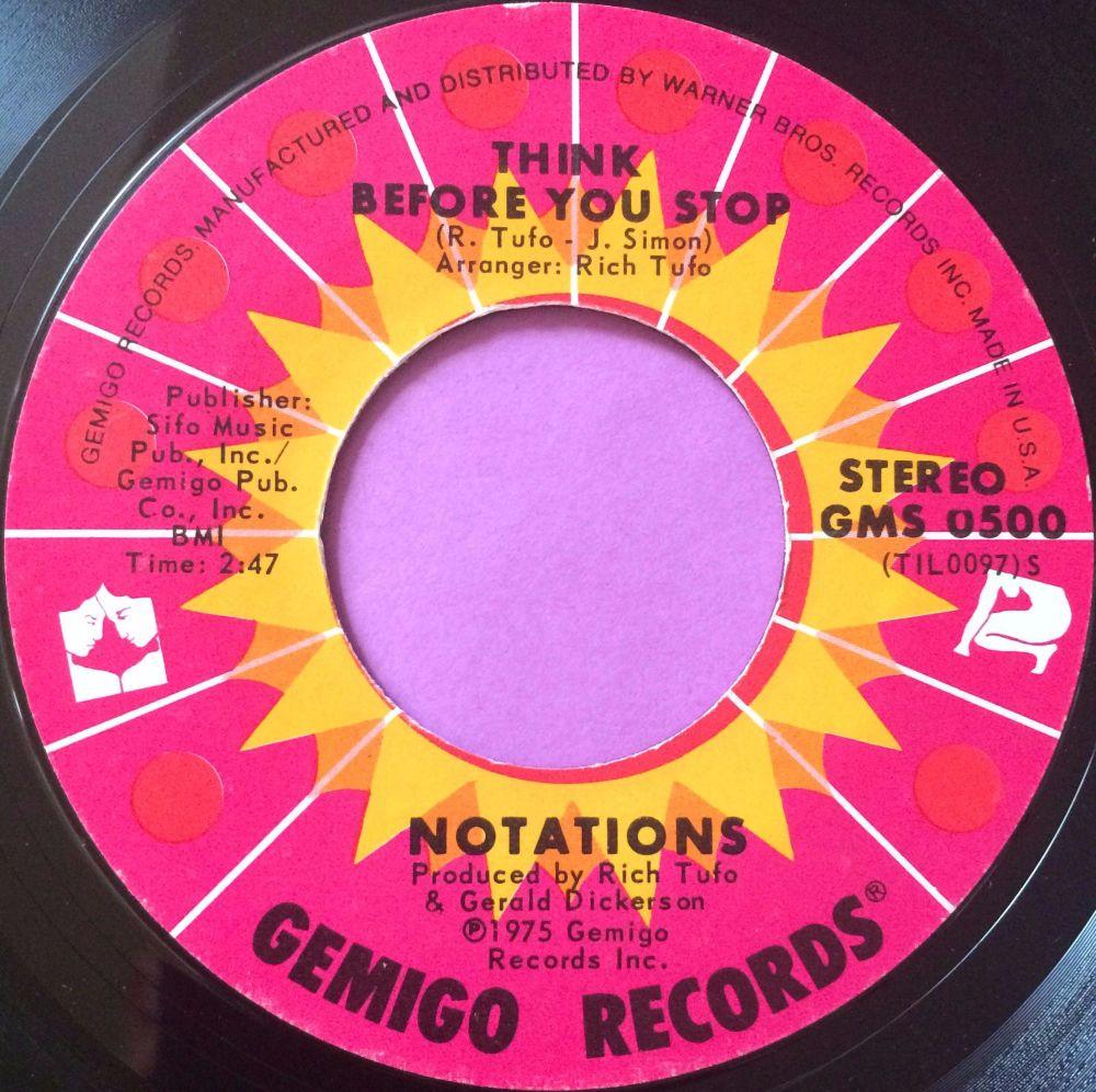 Notations-Think before you stop-Gemigo E+