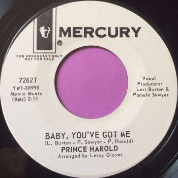 Prince Harold-Baby you`ve got me-Mercury WD M-