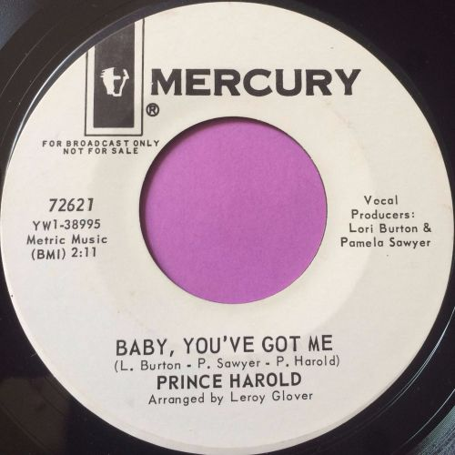 Prince Harold-Baby you`ve got me-Mercury WD M-