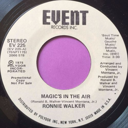 Ronnie Walker-Magic`s in the air-Event WD M-