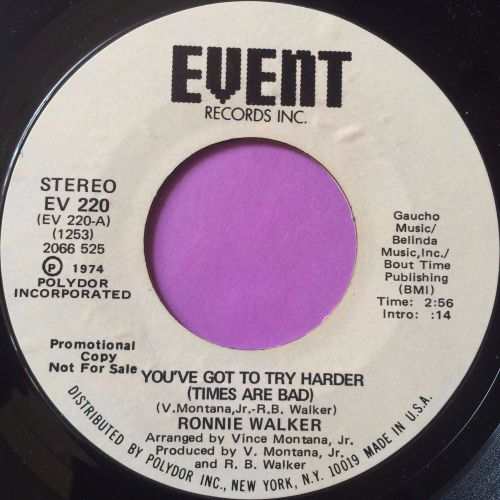 Ronnie Walker-You`ve got to try harder-Event WD M-