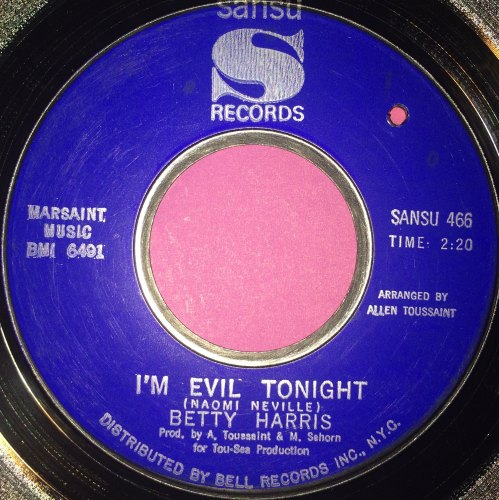 Betty Harris-I`m evil tonight-Sansu E+