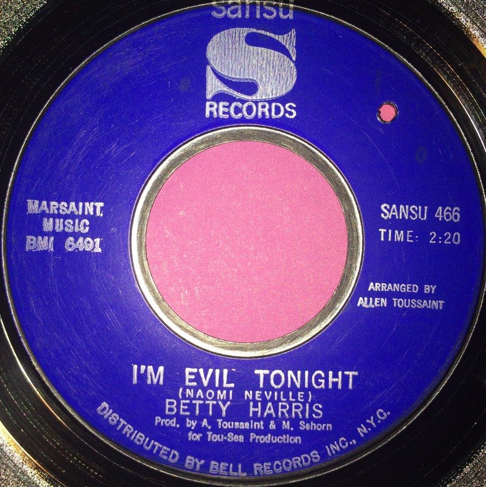 Betty Harris-I`m evil tonight-Sansu E+