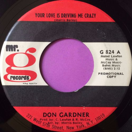 Don Gardner-Your love is driving me crazy-Mr G E+