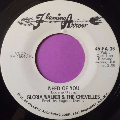 Gloria Walker-Need of you-Flaming arrow E+