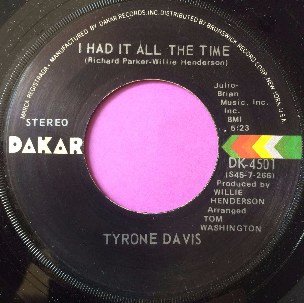 Tyrone Davis-I had it all the time-Dakar M-