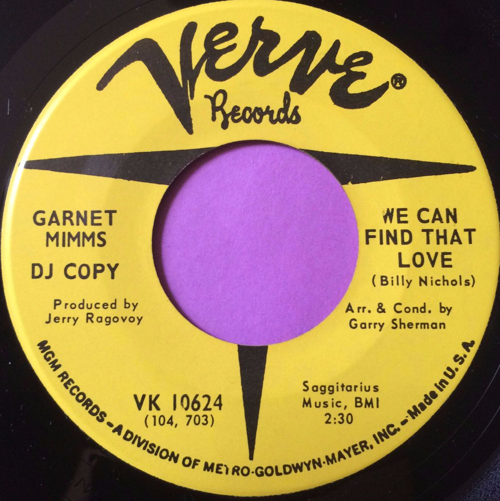 Garnet Mimms-We can find that love-Verve demo M-