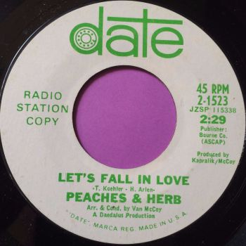 Peaches & Herb-Let`s fall in love-Date WD M-