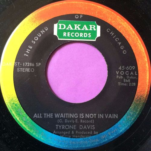 Tyrone Davis-All the waiting is not in vain-Dakar M-