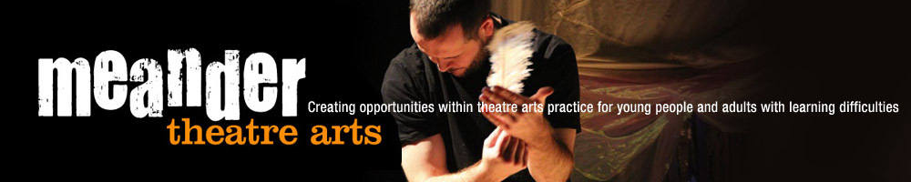 meander theatre arts, site logo.