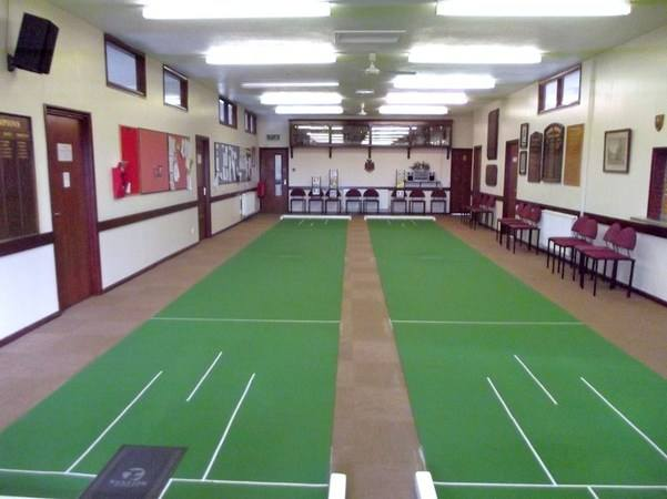 Short mats in the upper hall