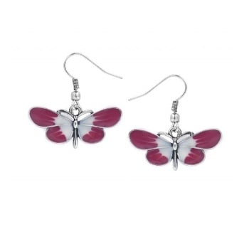 LOU: BUTTERLY EARRINGS PINK