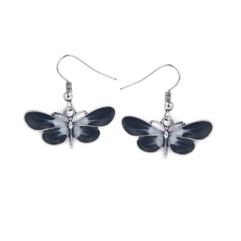 LOU: BUTTERFLY EARRINGS BLACK
