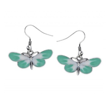LOU: BUTTERFLY EARRINGS GREEN