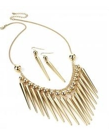 LOLITA SPIKE NECKLACE + EARRINGS