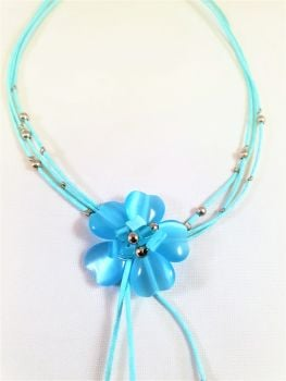 MIA BLUE FLOWER: NECKLACE