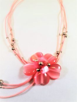 MIA PINK FLOWER: NECKLACE