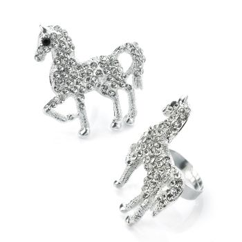 HORSE JEWELLED RING