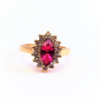 MAGARITA JEWELLED RING : RUBBY RED