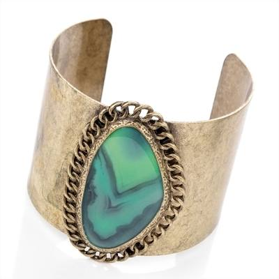 JADA: GOLD GREEN CUFF