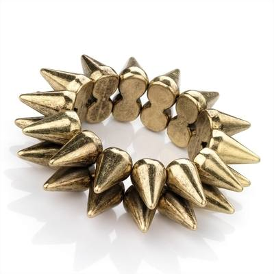GOD: GOLD SPIKE BRACELET