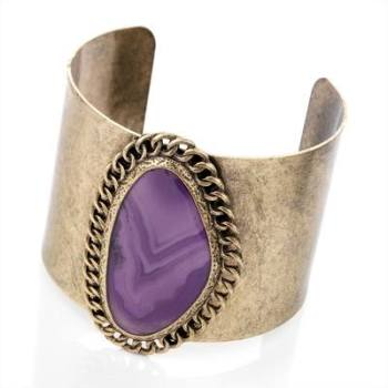 JADA: GOLD PURPLE CUFF