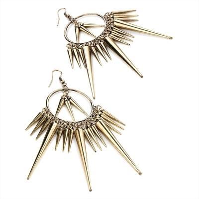 IRIS: SPIKE EARRINGS - GOLD