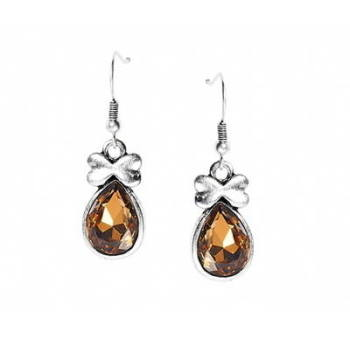 DALIAH: JEWEL EARRINGS - AMBER