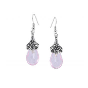 LYDIA: PINK DROP EARRINGS