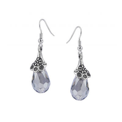 LYDIA: GREY DROP EARRINGS